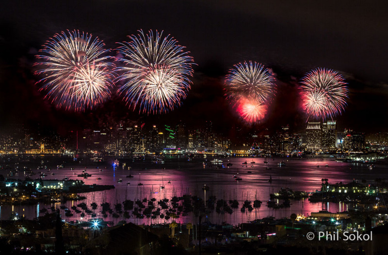 Photos San Diego July 4th Fireworks On San Diego Bay