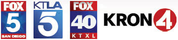 Fox 5, KTLA 5, Fox 40, Kron 4