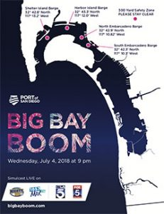 Firework Barge San Diego Bay Big Bay Boom