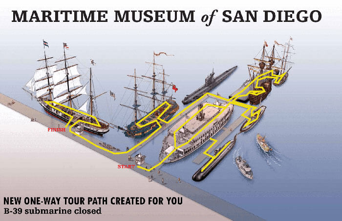 San Diego Maritime Museum Overview Map
